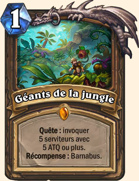 Géants de la jungle carte Hearthstone