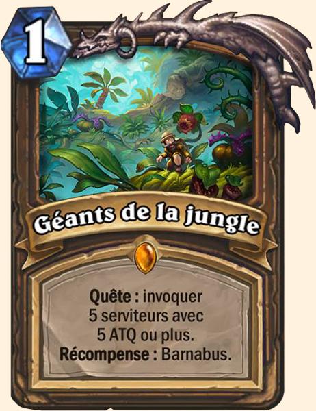 Géants de la jungle carte Hearthstone