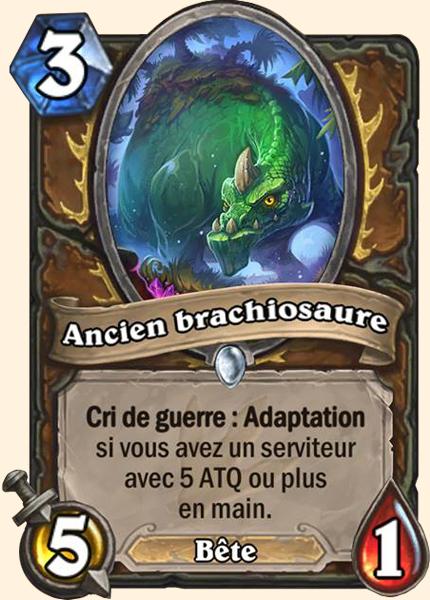 Ancien brachiosaure carte Hearthstone
