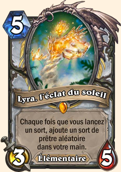 Lyra, l'éclat du soleil carte Hearthstone