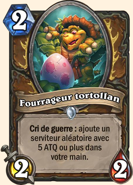 Fourrageur tortollan carte Hearthstone