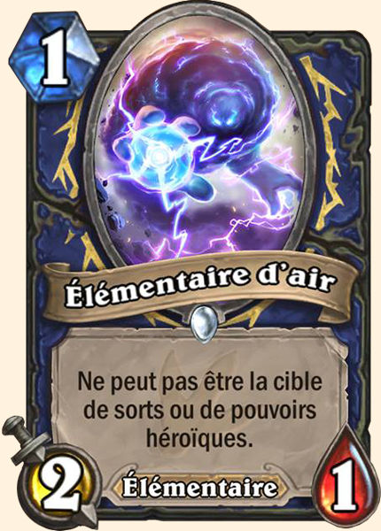 Élémentaire d'air carte Hearthstone