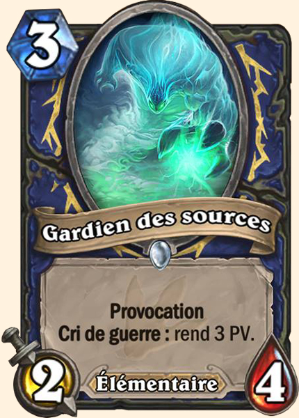 Gardien des sources carte Hearthstone