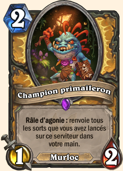 Champion primaileron carte Hearthstone