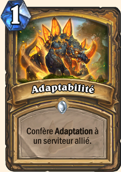 Adaptabilité carte Hearthstone