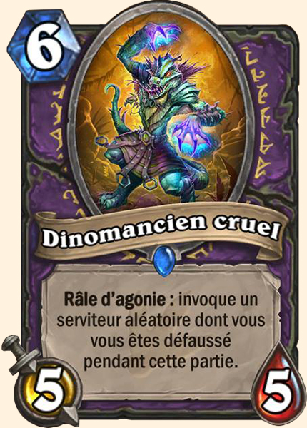 Dinomancien cruel carte Hearthstone
