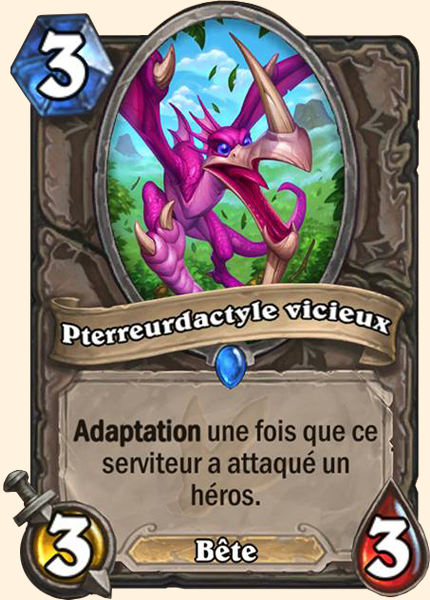 Pterreurdactyle vicieux carte Hearthstone