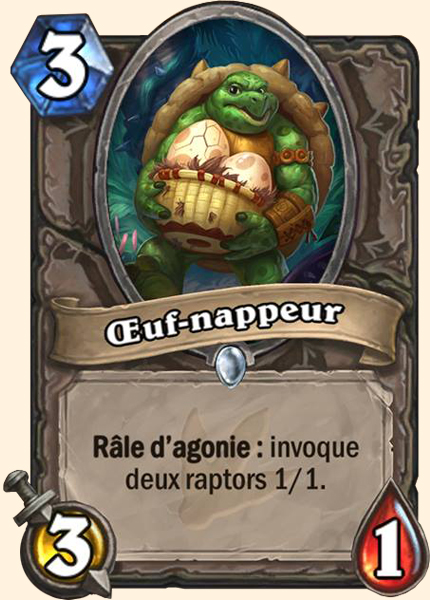 Oeuf-nappeur carte Hearthstone