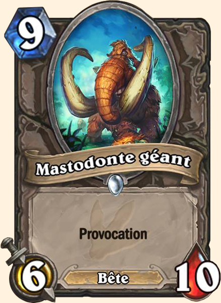 Mastodonte géant carte Hearthstone