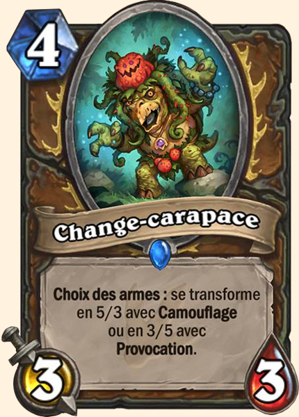 Change-carapace carte Hearthstone