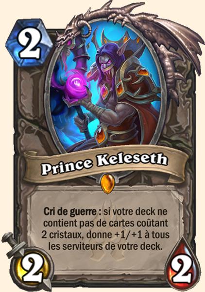 Prince Keleseth carte Hearthstone