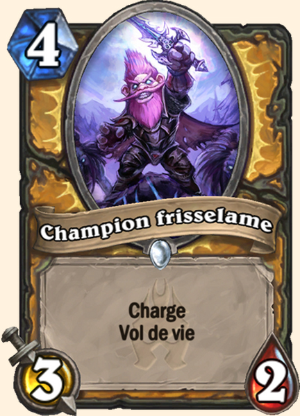 Champion frisselame carte Hearthstone