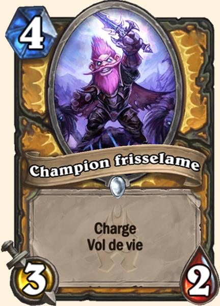 Champion frisselame carte Hearthstone