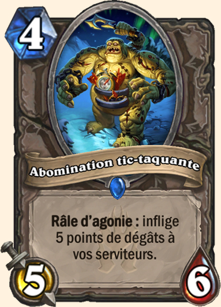 Abomination tic-taquante carte Hearthstone