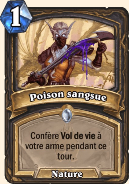 Poison sangsue carte Hearthstone