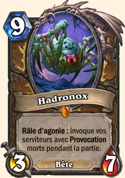 Hadronox carte Hearthstone