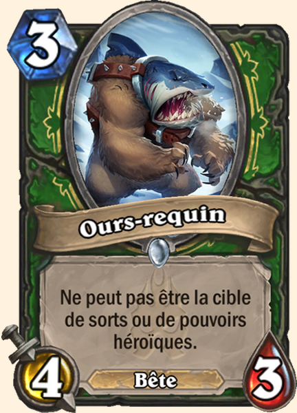 Ours-requin carte Hearthstone