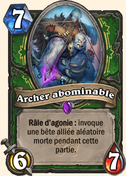 Archer abominable carte Hearthstone