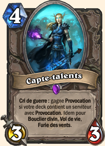 Capte-talents carte Hearthstone