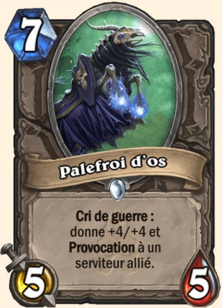 Palefroi d'os carte Hearthstone