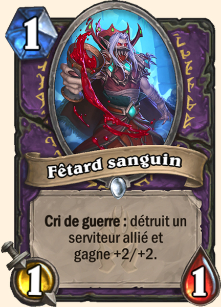 Fêtard sanguin carte Hearthstone