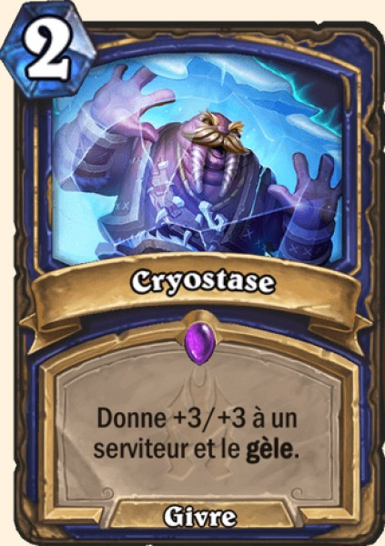 Cryostase carte Hearthstone