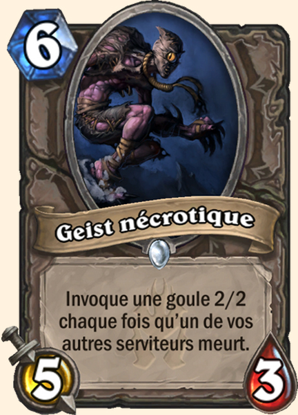 Geist nécrotique carte Hearthstone