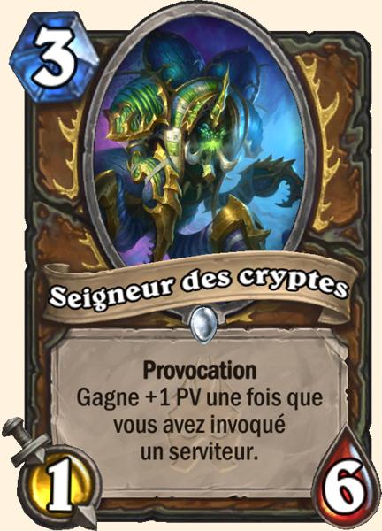 Seigneur des cryptes carte Hearthstone