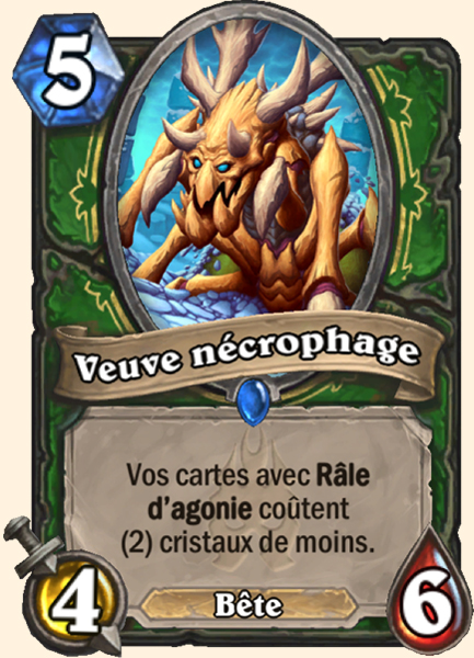 Veuve nécrophage carte Hearthstone