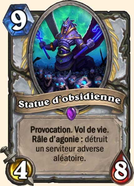 Statue d'obsidienne carte Hearthstone