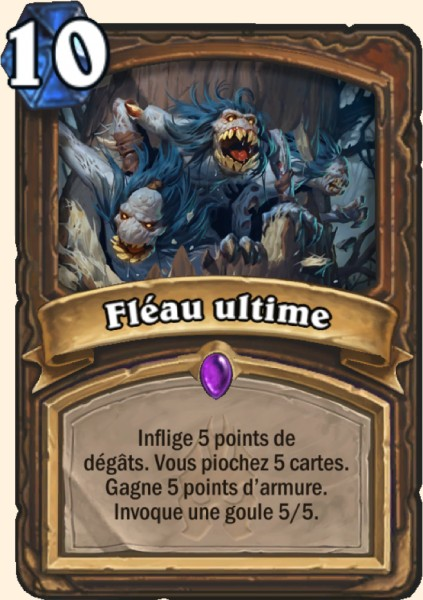 Fléau ultime carte Hearthstone