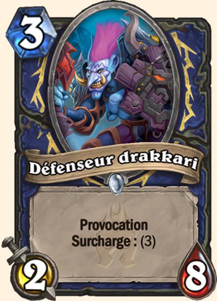Défenseur drakkari carte Hearthstone
