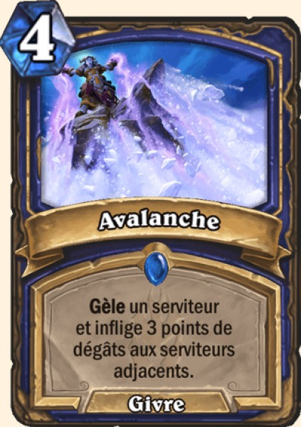 Avalanche carte Hearthstone