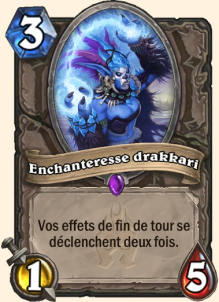Enchanteresse drakkari carte Hearthstone
