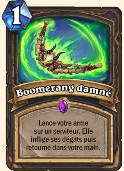 Boomerang damné carte Hearthstone