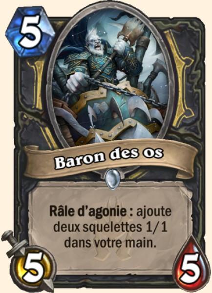 Baron des os carte Hearthstone