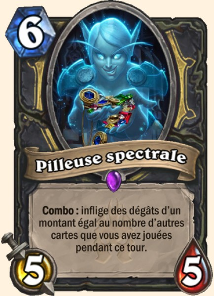 Pilleuse spectrale carte Hearthstone