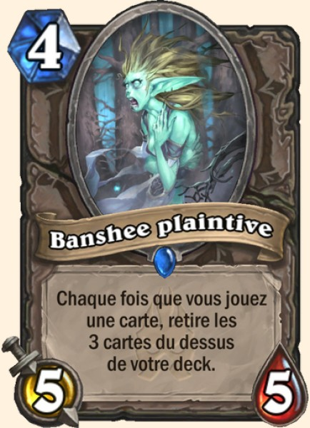 Banshee plaintive carte Hearthstone