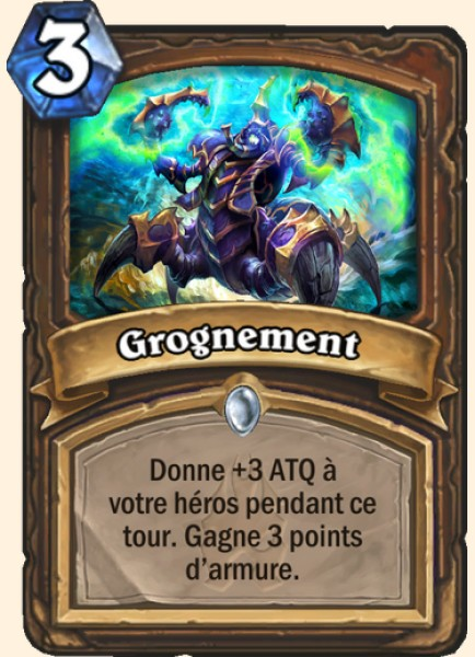 Grognement carte Hearthstone