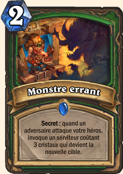 Monstre errant carte Hearthstone
