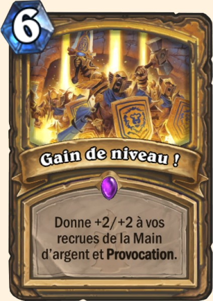 Gain de niveau ! carte Hearthstone