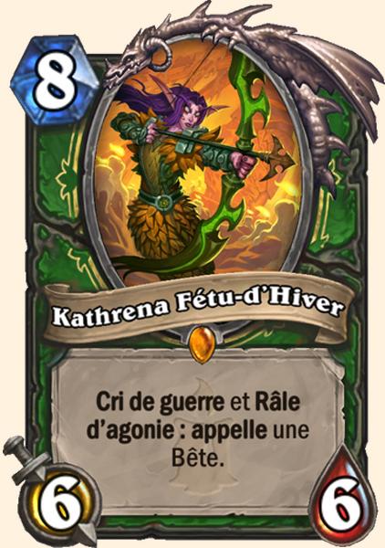 Kathrena Fétu-d'Hiver carte Hearthstone
