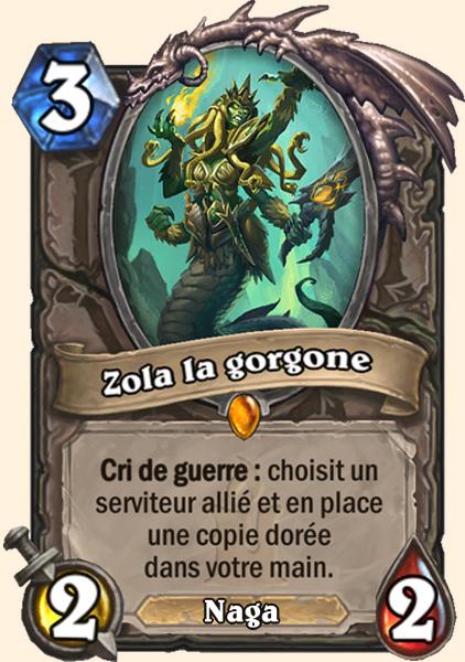 Zola la gorgone carte Hearthstone