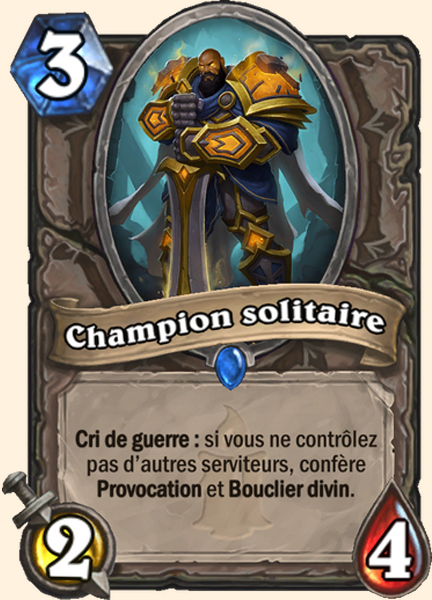 Champion solitaire carte Hearthstone