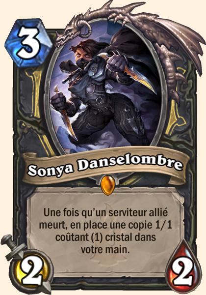 Sonya Danselombre carte Hearthstone