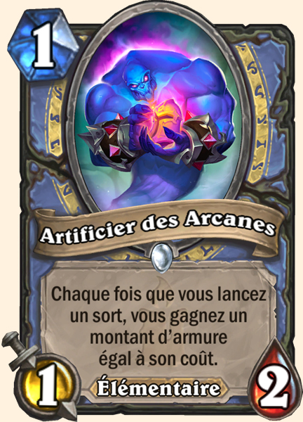 Artificier des Arcanes carte Hearthstone