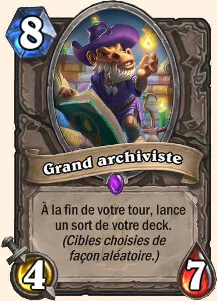 Grand archiviste carte Hearthstone