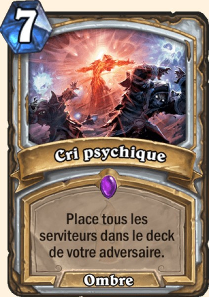 Cri psychique carte Hearthstone
