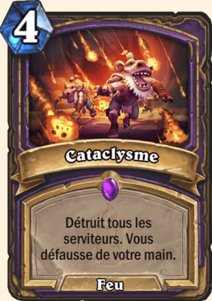 Cataclysme carte Hearthstone