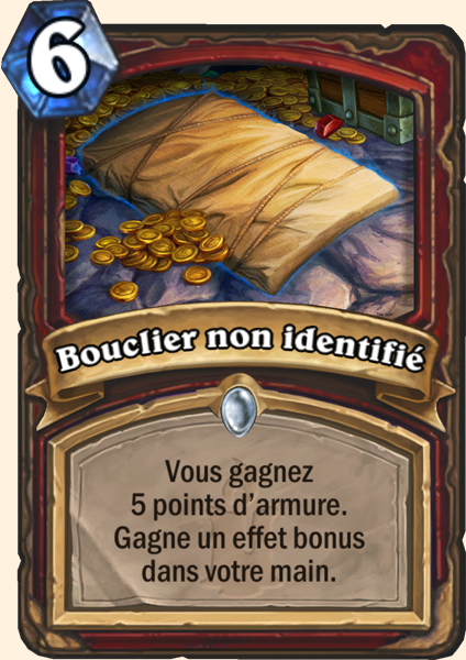 Bouclier non identifié carte Hearthstone
